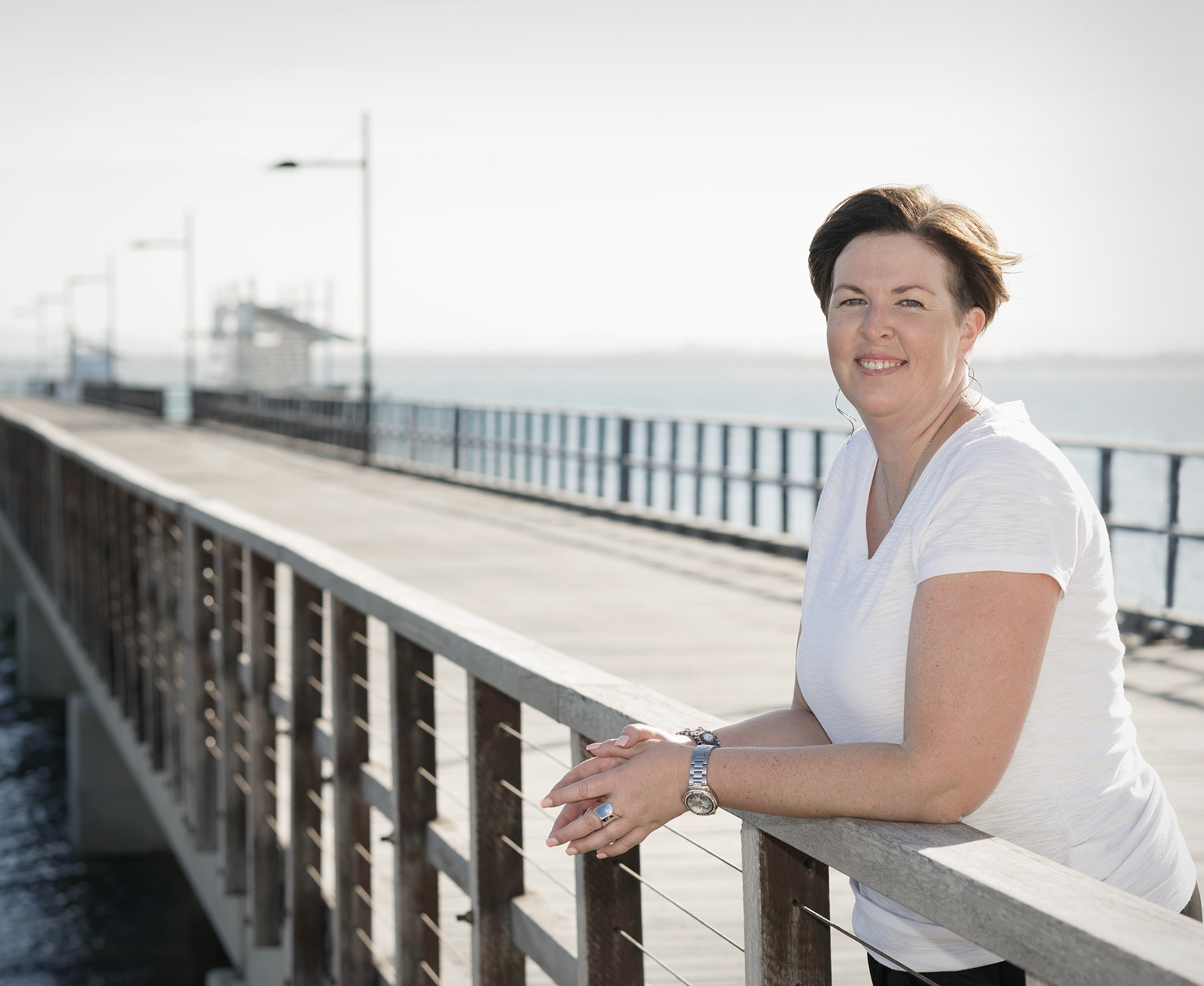 Creative Director Kirsty Fields at the jetty
