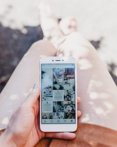 Smart phone with Instagram